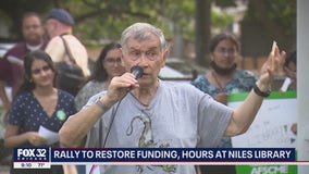 Hundreds rally on eve of Niles library vote