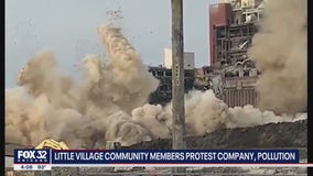 Little Village community members hold protest over pollution caused by botched demolition