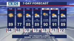 Afternoon forecast for Chicagoland on July 20th