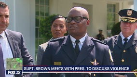 Chicago Police Supt. David Brown meets with Biden over violence prevention plan