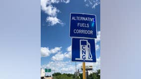 New Illinois road signs directing drivers to charging stations