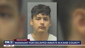 Kane County police searching for inmate who escaped during transport