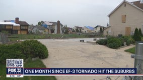 Recovery continues one month after EF3 tornado rips through Chicago suburbs