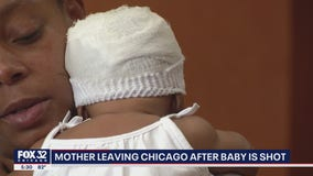 Mother leaving Chicago after baby is shot
