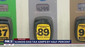 Illinois gas taxes increase by half-percent