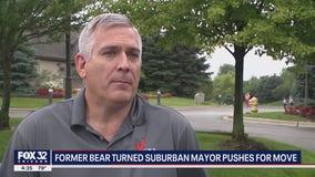 Former Chicago Bear turned suburban mayor pushes for move to Arlington Park