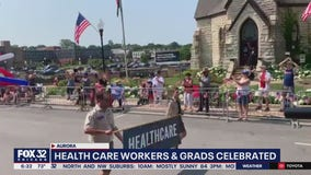 Aurora 4th of July parade celebrates health care workers, graduates