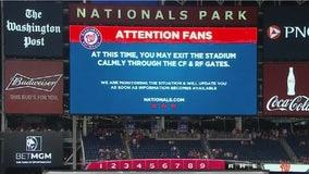 Washington Nationals-San Diego Padres game halted after four shot outside stadium