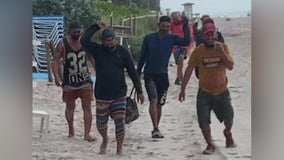 Cuban migrants come ashore in South Florida, ask beachgoers for directions to Miami Beach