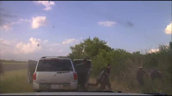 Dashcam video shows illegal immigrants pour out of smuggler's car after Texas pursuit