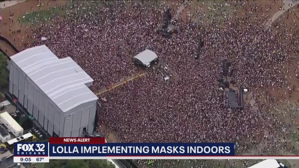 Lollapalooza requiring attendees to wear masks in all indoor spaces
