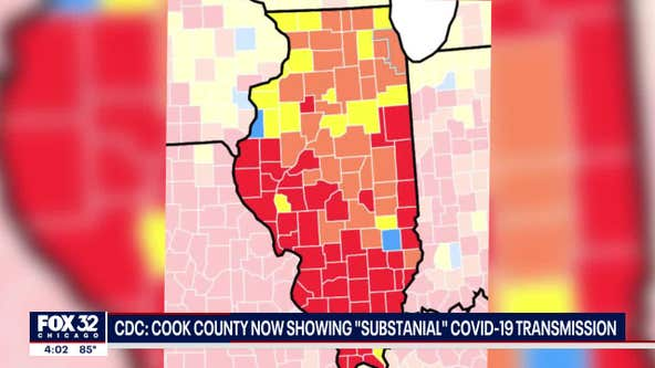 CDC: Cook County showing 'substantial' transmission of COVID-19, masks recommended indoors