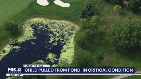 Child in critical condition after being pulled from pond in Lake in the Hills