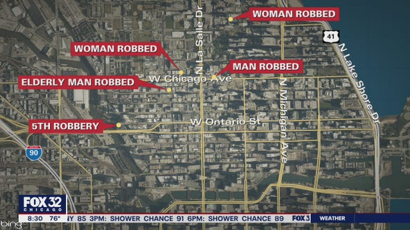 Series of armed robberies reported on the Near North Side: police