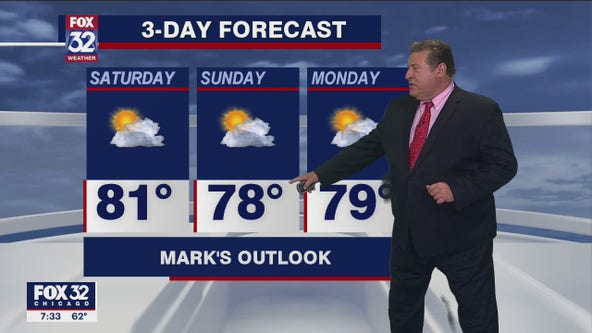 Saturday morning forecast for Chicagoland on July 31