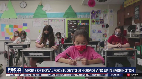 Barrington schools make masks optional for students 6th grade and up