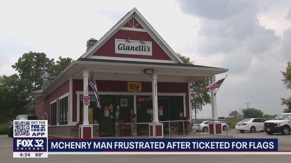 McHenry County man ticketed for flying American flags outside his business