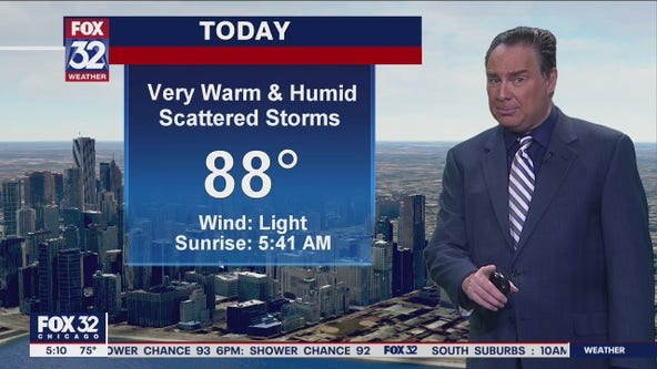 Morning forecast for Chicagoland on July 28th