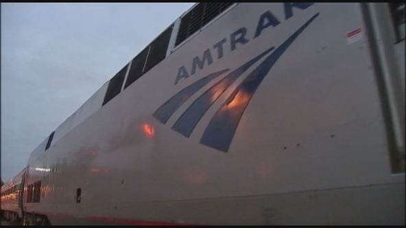 Amtrak train that runs from Chicago to Seattle derails, with cars tipped over off the tracks