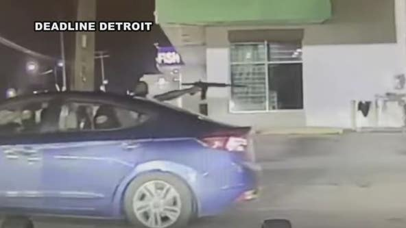 Dashcam video shows Detroit police officers flee from shooting happening in front of them