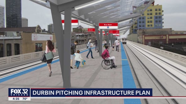 Illinois Senator Durbin pitches infrastructure plan: 'big plus for our state'