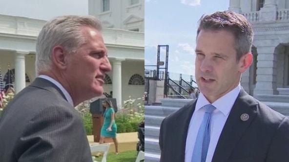 Republican leader Kevin McCarthy refers to Illinois Congressman Kinzinger as a 'Pelosi Republican'
