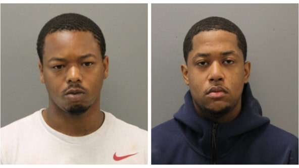 Two men arrested on gun charges after expressway chase