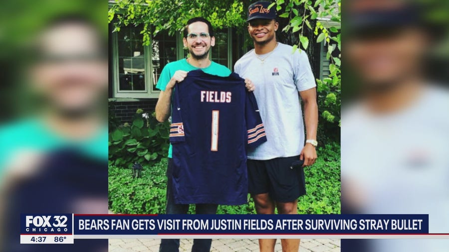 Bears QB Justin Fields surprises Chicago man who survived being shot