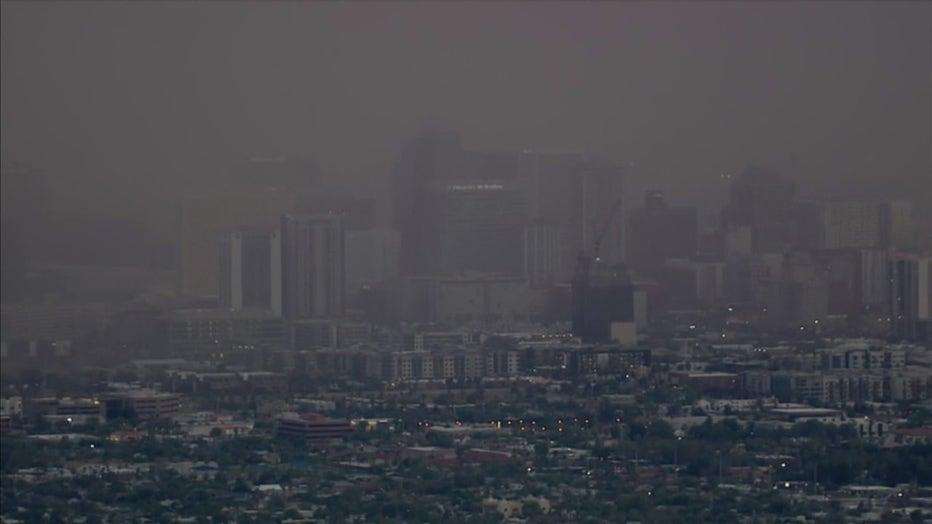 Dust storm over downtown Phoenix