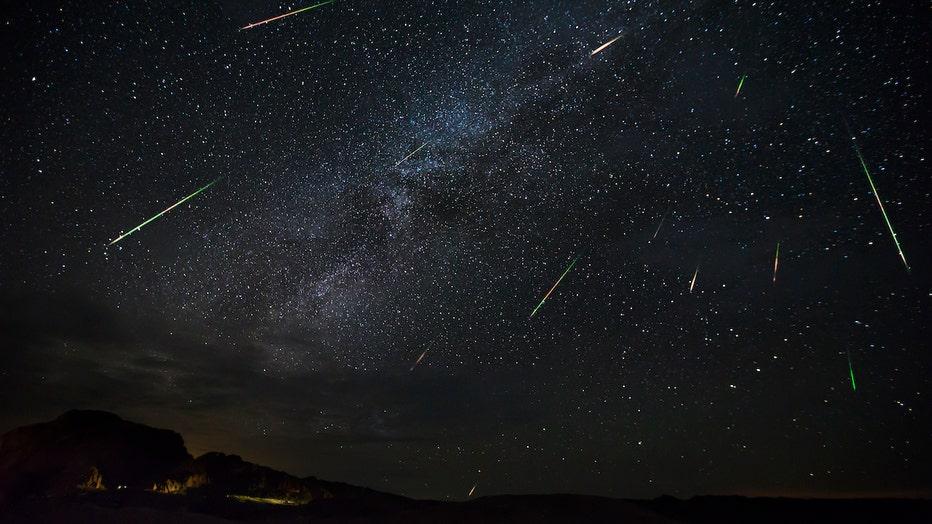 Perseid Meteor Show Captured In Big Bend National Park