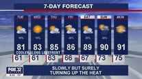 10 p.m. forecast for Chicagoland on August 2