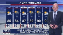 6 p.m. forecast for Chicagoland on August 4