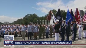 First Honor Flight in almost two years takes off from Midway