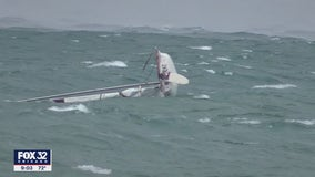 Wicked weather capsizes boats in Lake Michigan
