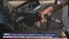 Gas prices spiking around Chicago