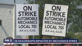 56 Chicago-area dealerships impacted by mechanics strike