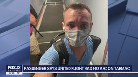 Illinois man says United flight had no A/C on tarmac, pilot passed out