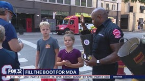 Chicago firefighters asking people to fill the boot for muscular dystrophy