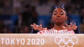 Simone Biles wins bronze medal on beam in return to Olympics competition