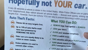 As carjackings skyrocket, Chicago Police hand out flyers with tips on how to avoid being victimized