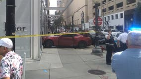 Erratic driver jumps Michigan Avenue sidewalk, crashes into Dior store