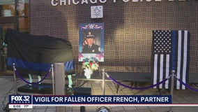 Emotional vigil held for Chicago Police Officer Ella French, partner critically wounded