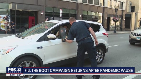 Chicago Firefighters raising money for MDA with 'Fill the Boot' campaign
