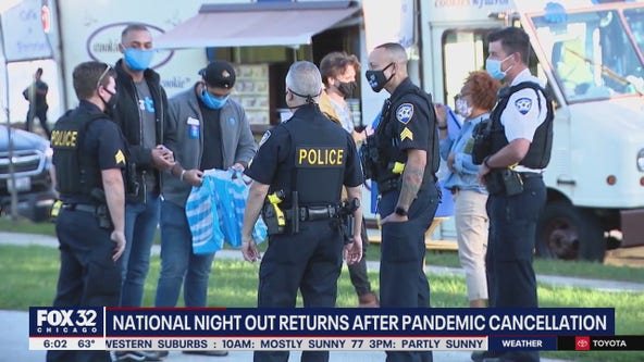 National Night Out events return to Chicago area after being nixed by COVID
