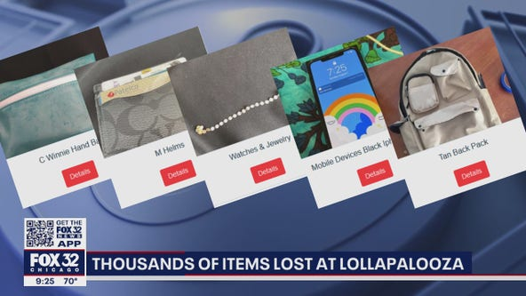 Technology helps Lollapalooza attendees locate lost items