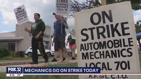 Chicago-area mechanics go on strike Monday, affecting 50+ dealerships