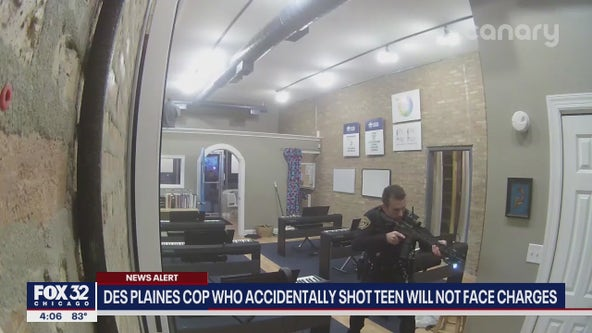 Des Plaines cop won't be charged after shooting innocent bystander following bank robbery
