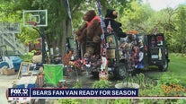 Diehard Chicago Bears fan shows off his tailgating prized possessions