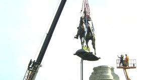 Robert E. Lee statue removed in Richmond