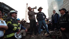 'I can hear you! The rest of the world hears you': George W. Bush's bullhorn speech